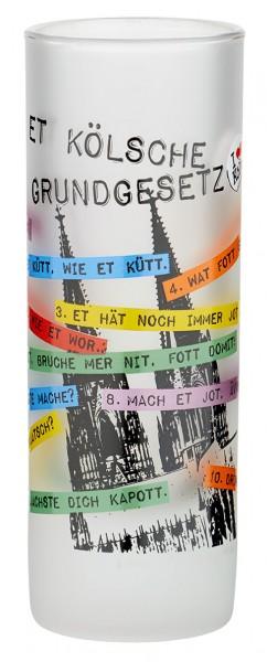 Schnapsglas I love Köln Kölsches Grundgesetz