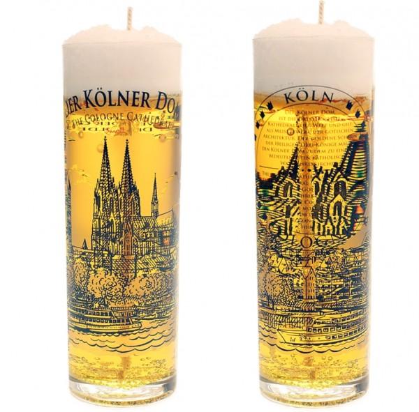 Kölschglas-Kerze Kölner Dom