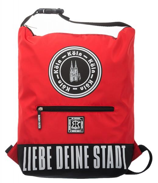 Köln Rucksack - Liebe deine Stadt, rot