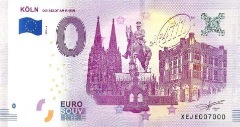 Null Euro Geldschein Köln Edition 4