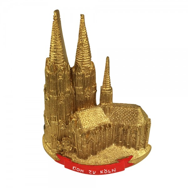 Magnet Dom zu Köln, gold