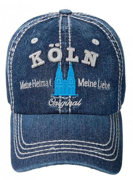 Köln Cap Denim, blau