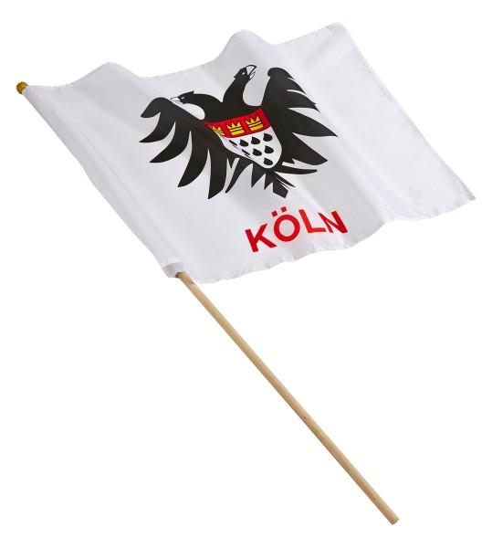 Fahne Kölner Adler am Stab