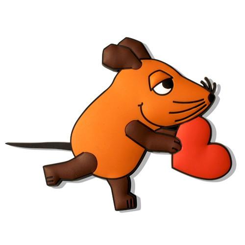 Magnet Maus mit Herz