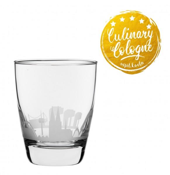 Wasserglas Kölner Skyline im Set zum Top-Preis