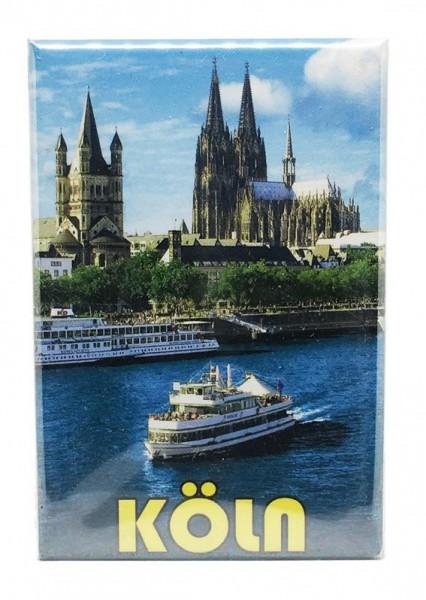 Magnet Kölnpanorama und Rhein