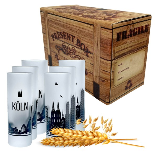 Schnapsglas Kölner Skyline, 6er Set