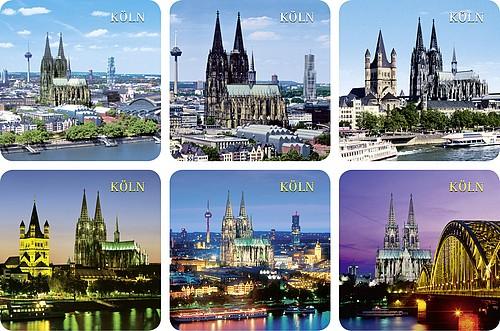 Untersetzer mit Köln Panorama