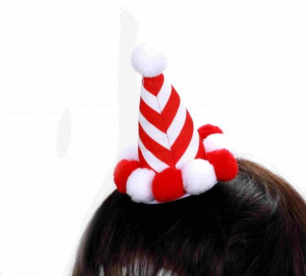 Haarclip Hut mit Pompons