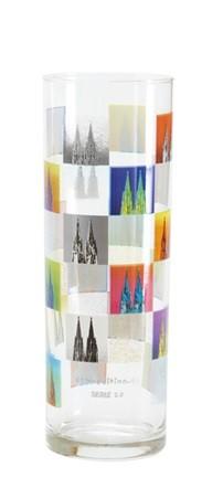 Kölschglas mit DomMosaik Motiv, einzeln / 6er Pack