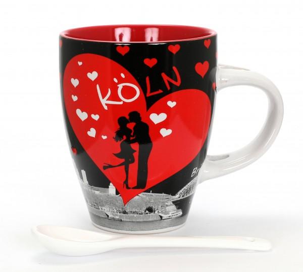 Kaffeetasse - Love, schwarz