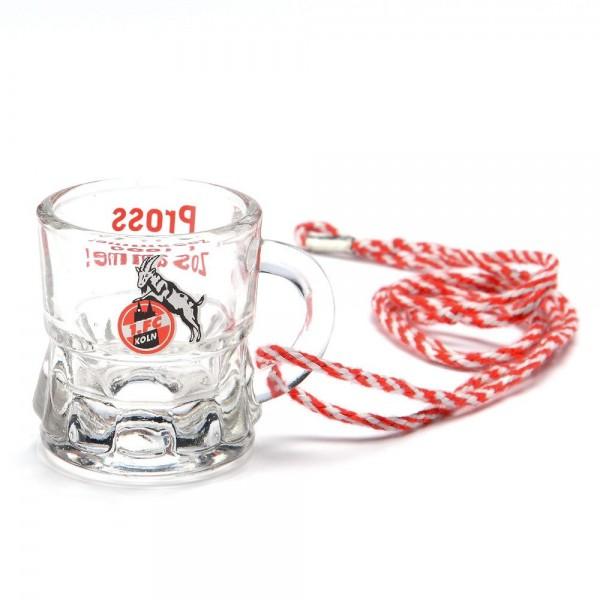 1. FC Köln Schnapsglas mit Kordel