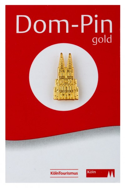 Pin Kölner Dom, gold