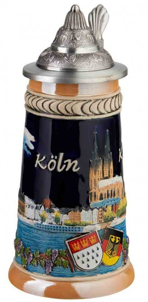 Köln Krug mit Zinndeckel, 0,5l