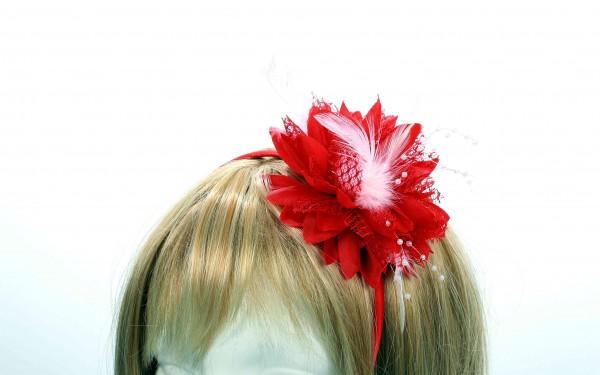 Haarreif Blume rot