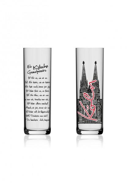 Kölschglas Kölner Dom Grundgesetz