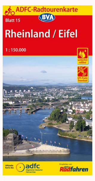 Rheinland / Eifel - ADFC-Radtourenkarte