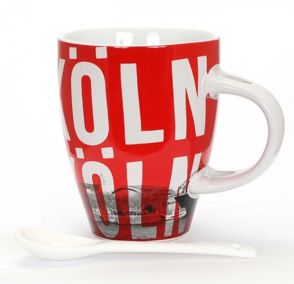 Kaffeetasse - Köln, rot