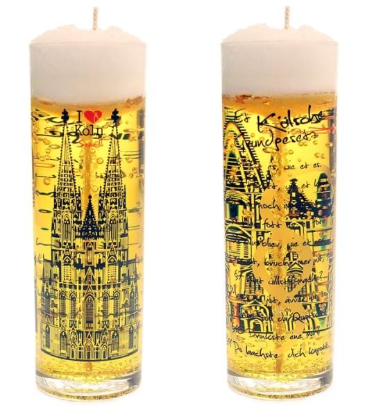 Kölschglas-Kerze Et kölsche Grundgesetz