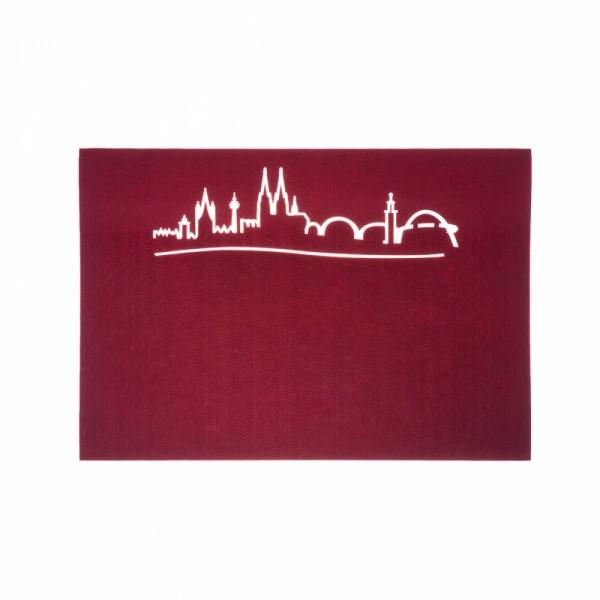 Tischset Skyline, bordeaux