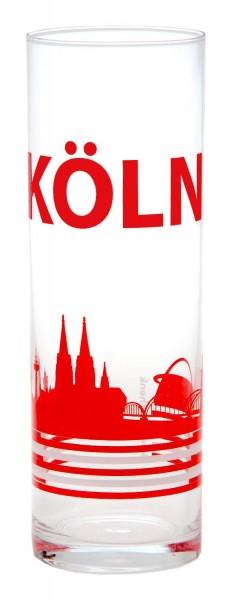 Kölschglas Köln rut wiess