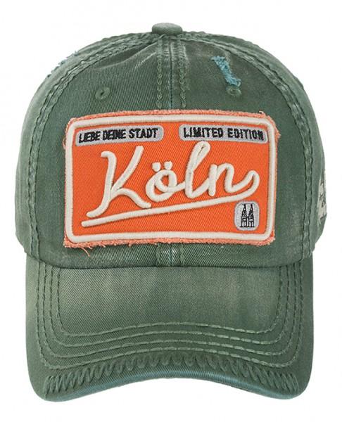 Köln Cap - Used Look, olive