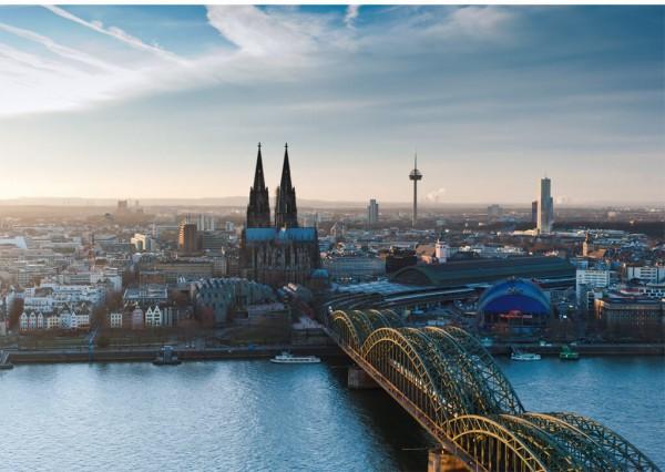 Klappkarte Blick über Köln