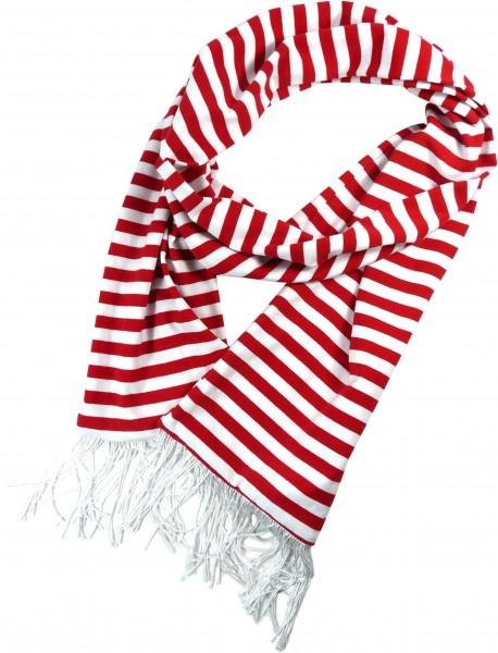 Rot-weiß gestreifter Schal