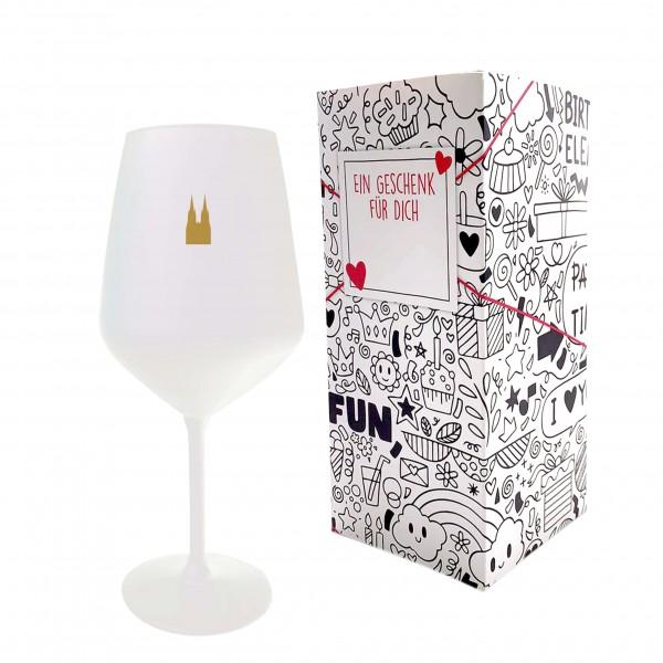 Weinglas Deluxe, weiß