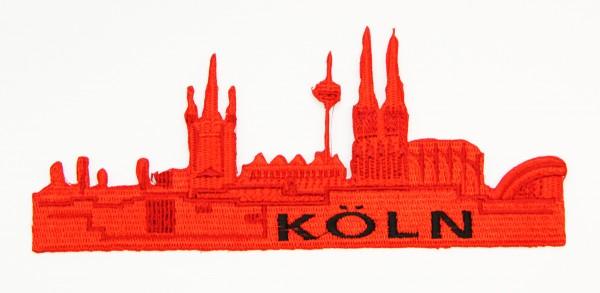 Bügelbild Kölner Skyline, rot