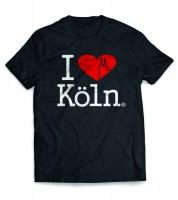 T-Shirt Herren I Love Köln schwarz