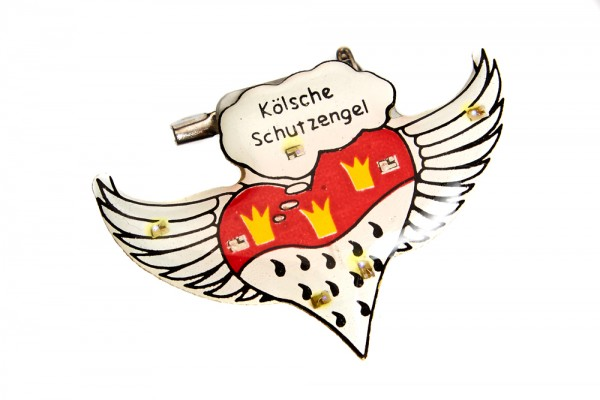 "Blinkender Pin ""Kölsche Schutzengel"""