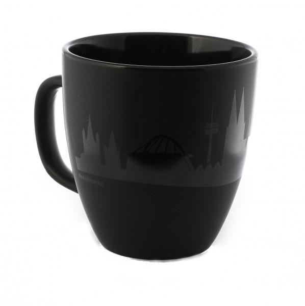 Kaffeetasse Skyline, schwarz
