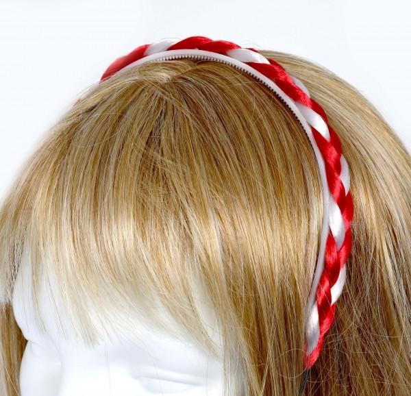 Haarreif, rot/weiß
