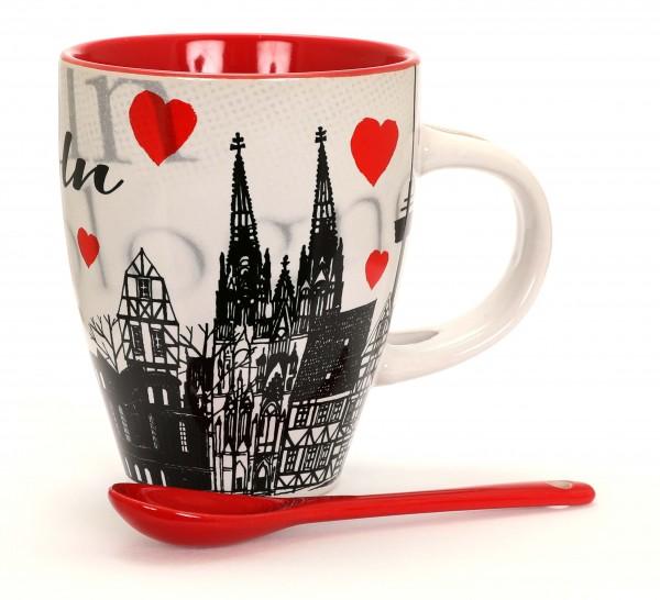 Kaffeetasse - Köln Herz