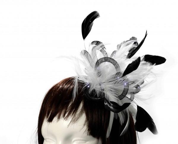 LED Haarreif mit Federn