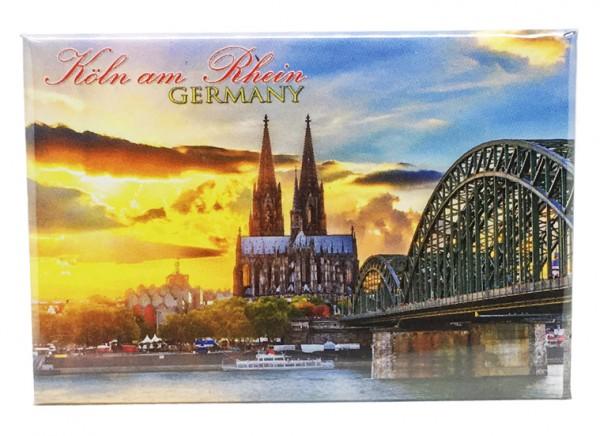 Magnet Köln am Rhein, Sonnenuntergang