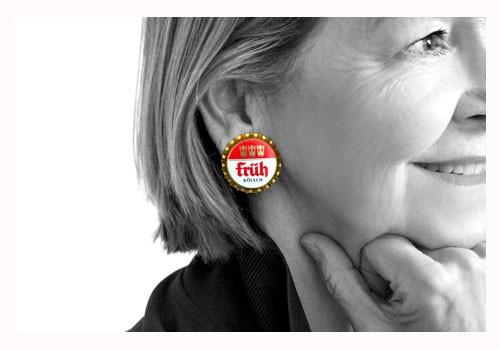Früh-Kronkorken Ohrstecker