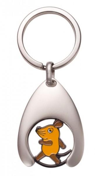 Schlüsselanhänger/Einkaufswagenchip Maus