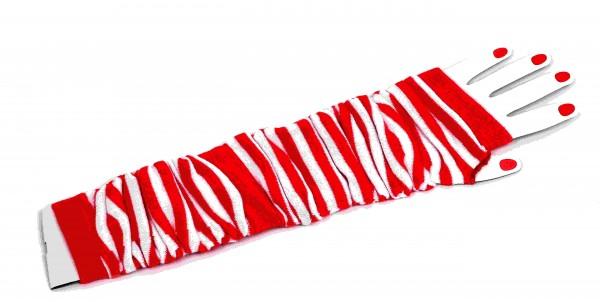 Ringel Handstulpen rot/weiß
