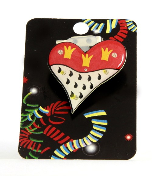 Wappen-Herz als Blink Pin
