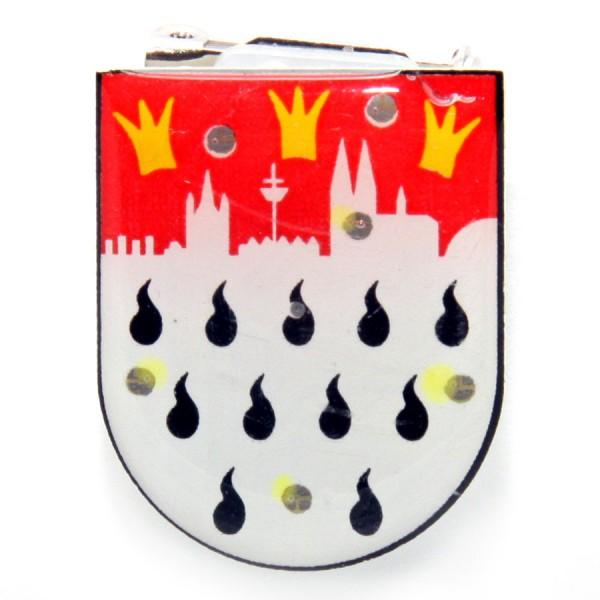 Blinky Pin mit Stadtwappen