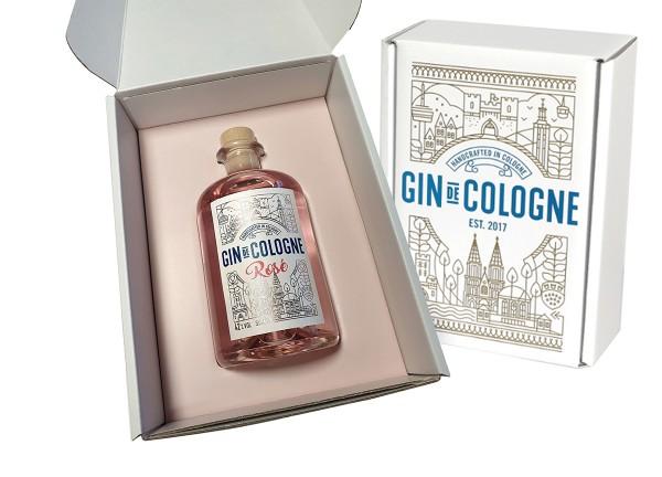Präsent Box für Gin de Cologne, für 500 ml, rosé
