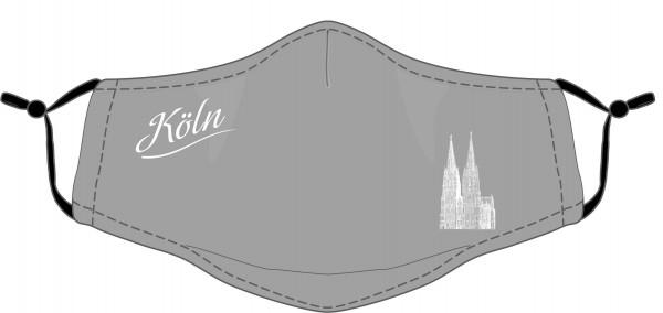Köln Maske - Motiv Dom (2er Set) grau
