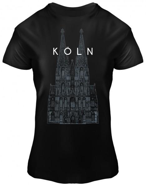 T-Shirt Kölner Dom, Damen