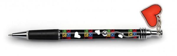 Kugelschreiber Köln, schwarz-bunt