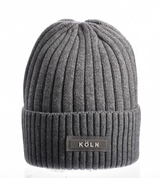 Köln Wintermütze, grau /weiß