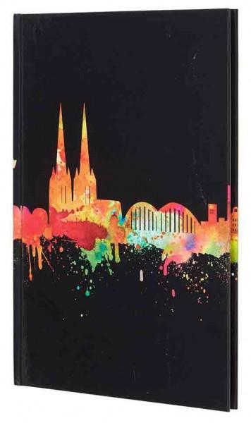 Notizbuch A5 - Skyline neon
