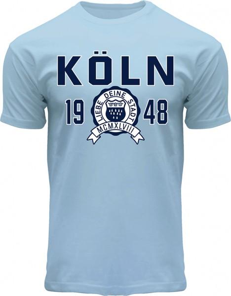 Köln College T-Shirt Herren, hellblau
