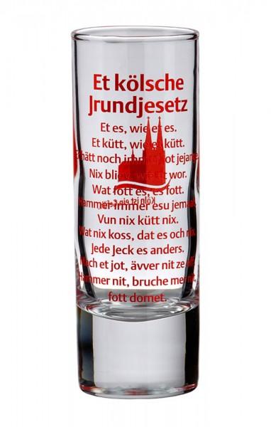 Schnapsglas Kölsches Grundgesetz, 1 Glas, im Set zum Top-Preis!